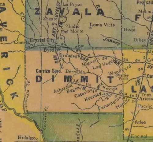 TX Dimmit County 1940 map
