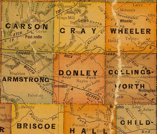 TX Donley  County 1920s Map