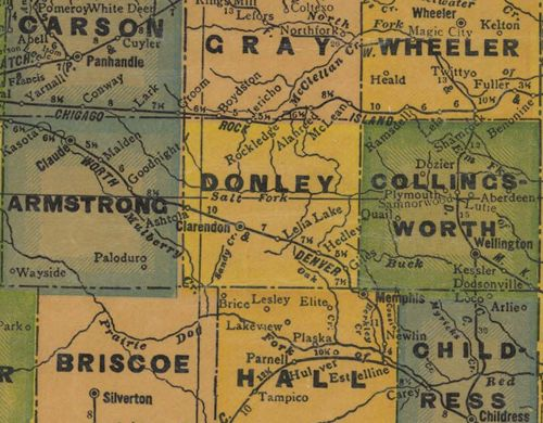 Donley  County TX 1940s Map