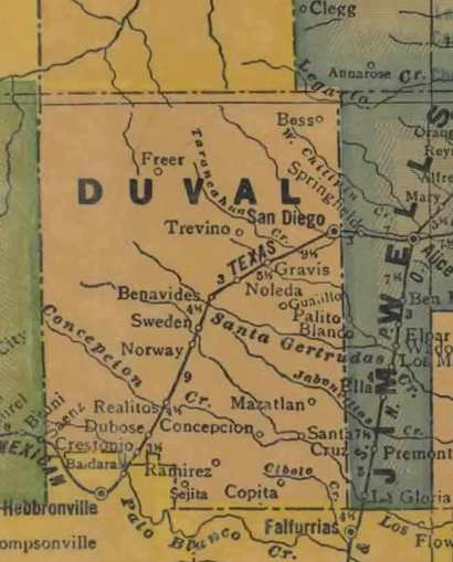 TX Duval County 1940s Map