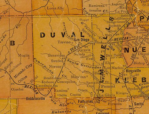 TX Duval & Jim Wells County 1920s Map