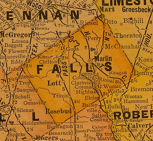 TX Falls County 1920s Map