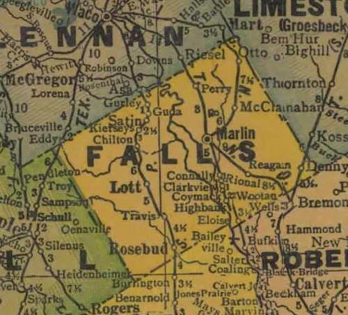 TX Falls County 1940s Map