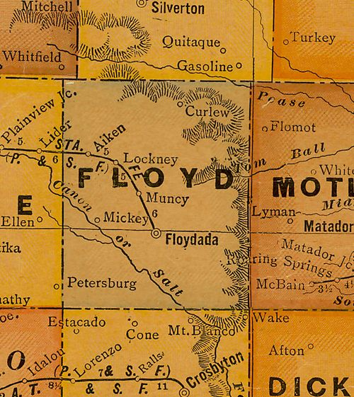TX Floyd  County 1920s Map