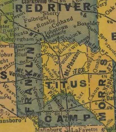 Franklin County 1920s map