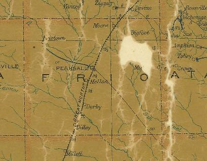 Frio County TX 1907 psotal map