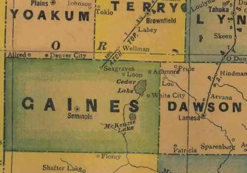 TX Gaines  County 1940s Map
