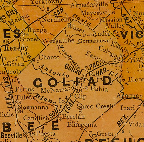 TX Goliad County 1920 Map