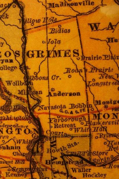 Grimes County TX 1882 Map