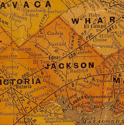 Jackson County TX 1920 Map