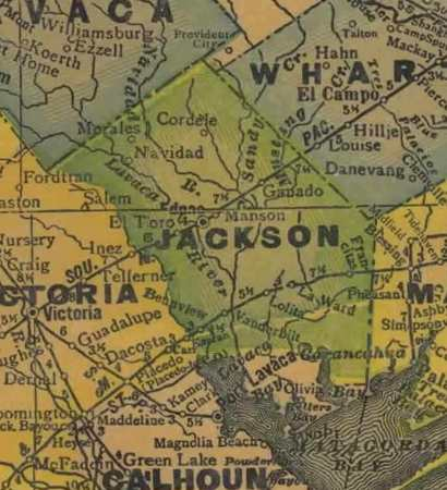 Jackson County TX 1940 Map