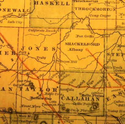 Jones County TX 1882 Map