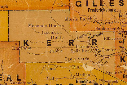 TX Kerr  County 1920s Map