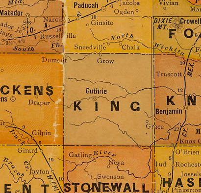 TX King  County 1920s Map