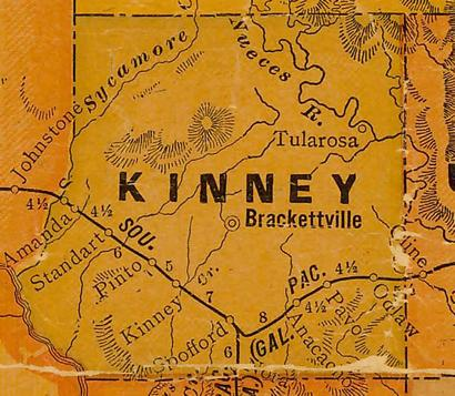 Kinney County TX 1920s map