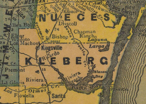 TX Kleberg  County 1940s Map