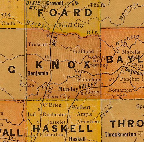 TX Knox County 1920s Map
