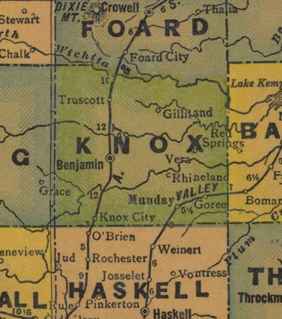 TX Knox County 1940s Map