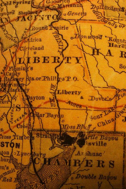 TX  Liberty County 1882 Map