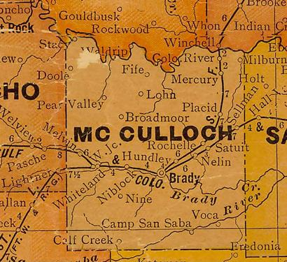 TX McCulloch County 1920s Map