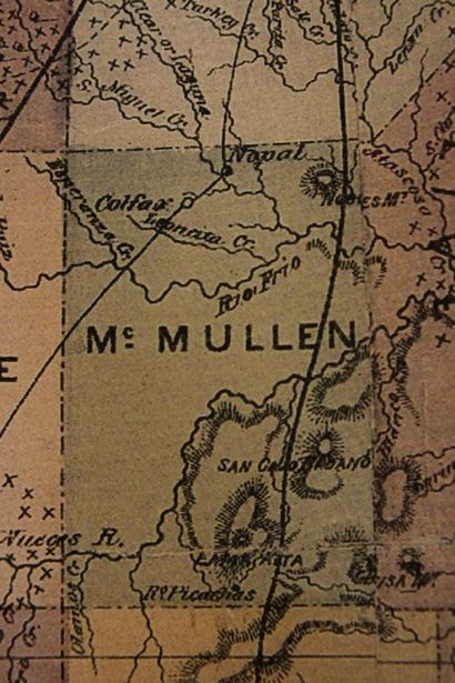 McMullen County TX 1874 Map