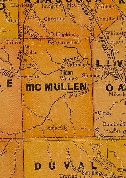 TX McMullen County 1920s Map