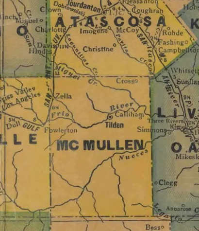 TX McMullen County 1940s Map