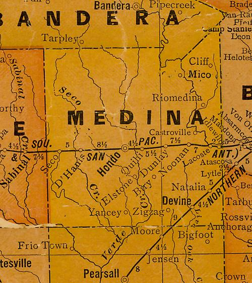 TX Medina County 1920 map