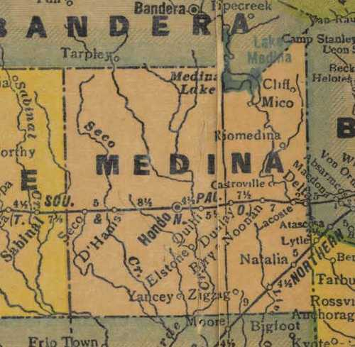 TX Medina County 1940 map
