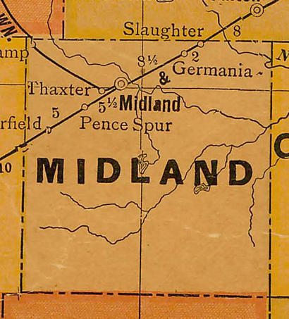 TX  Midland County 1920s Map