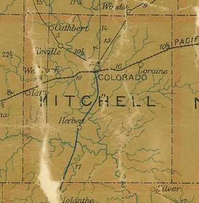 TX Mitchell County 1907 Postal Map