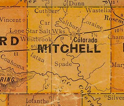 TX Mitchell County 1920s map