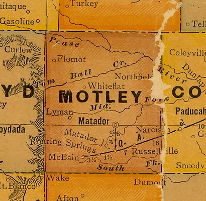 TX Motley County 1920s Map