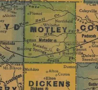 TX Motley County 1940s Map