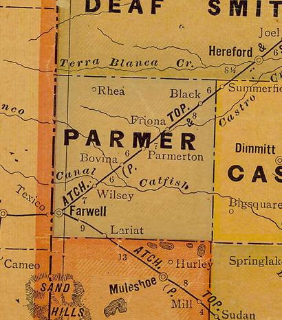 TX - Parmer County 1920s  map