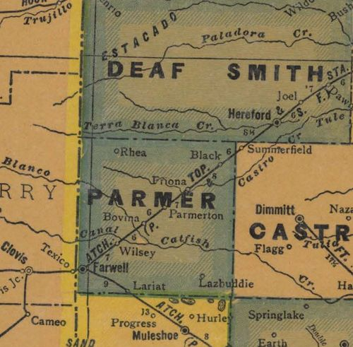 TX - Parmer County 1940s  map