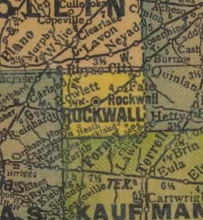 TX  Rockwall County 1940s Map