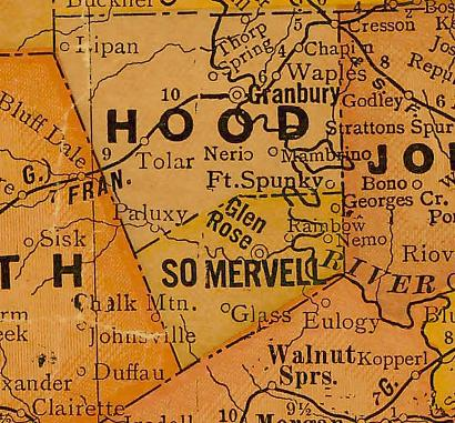 Hood County TX 1920s map