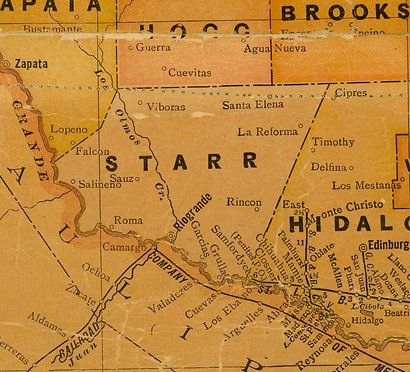 TX Starr County 1920s Map