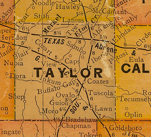TX - Taylor County Texas 1920s Map