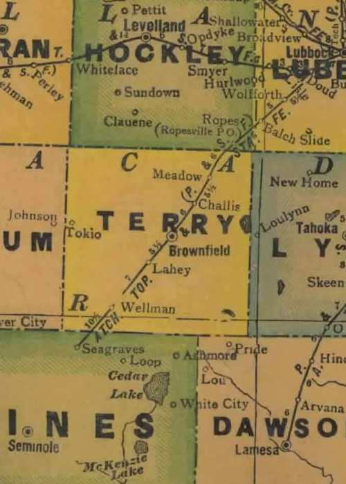 TX Terry County 1940s Map
