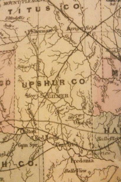 TX 1873 Upshur County  map