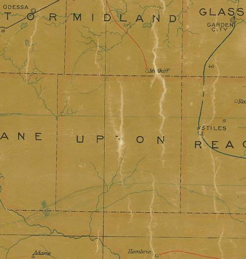Upton County TX 1907 Postal Map