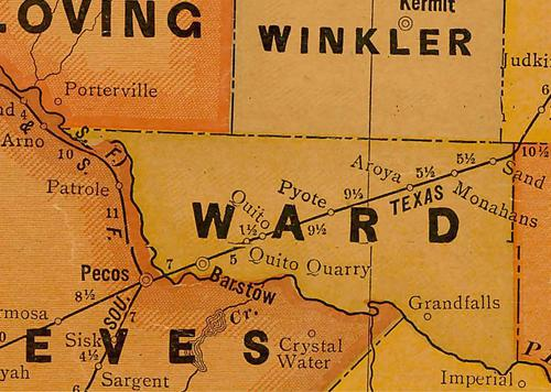 Ward County TX 1920s map