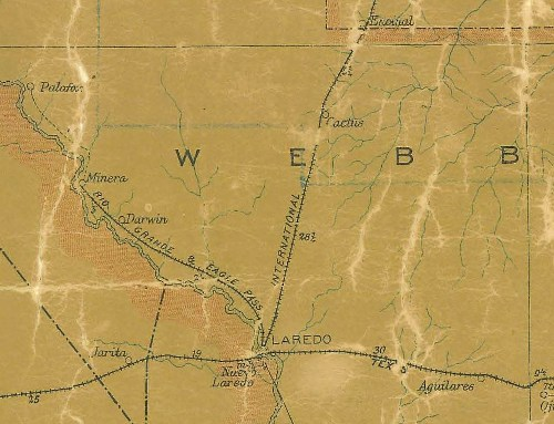 Webb County TX 1907 Postal Map
