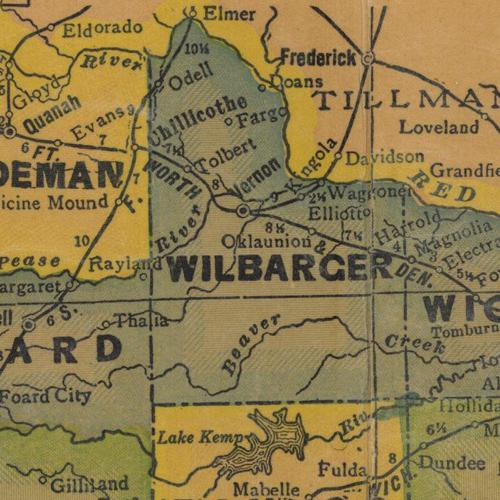 TX Wilbarger County 1940s Map