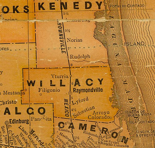 TX Willacy County 1920s Map