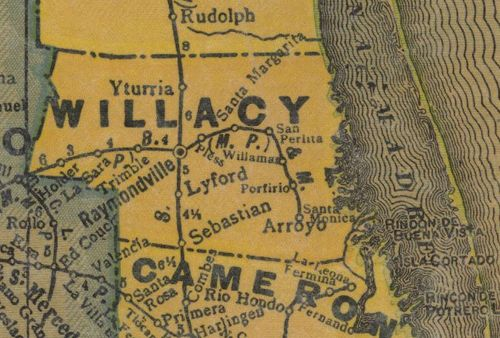 TX Willacy  County 1940s Map