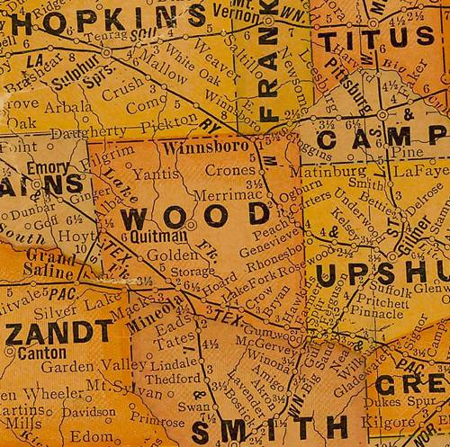 TX Wood County 1920s map