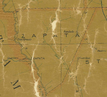 TX Zapata County 1907s Map